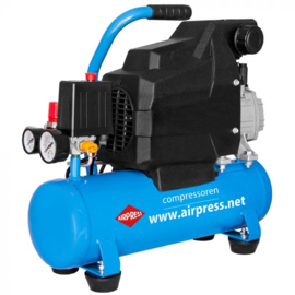 Airpress zuigercompressor H 185/6  - 230V - 8 bar - hobby