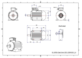 OMT1-IE3 132M4 7,5kW (1500rpm) 400/690V 50Hz B3/B5/B35
