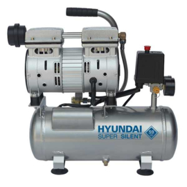Hyundai Geluidsarme olievrije zuigercompressor L 6 - SILENT - 230V - 8 bar - hobby