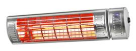 Eurom | Hangende Terrasverwarming | Elektrisch | Golden 2500 Ultra RCD | 2500W | 20m² | Golden Halogeen | Afst. & dimmer | 334555