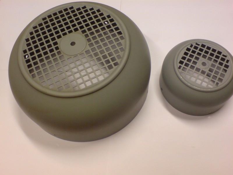IEC metalen ventilatorkap - Bg 250 (standaard)
