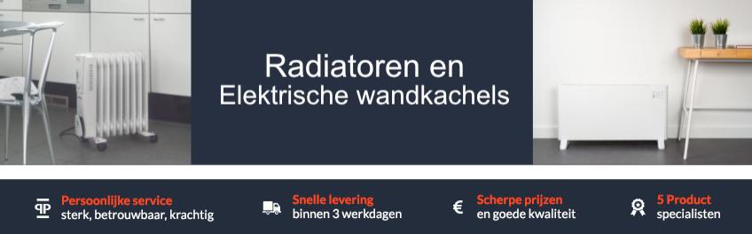 Radiatoren en Elektrische wandkachels