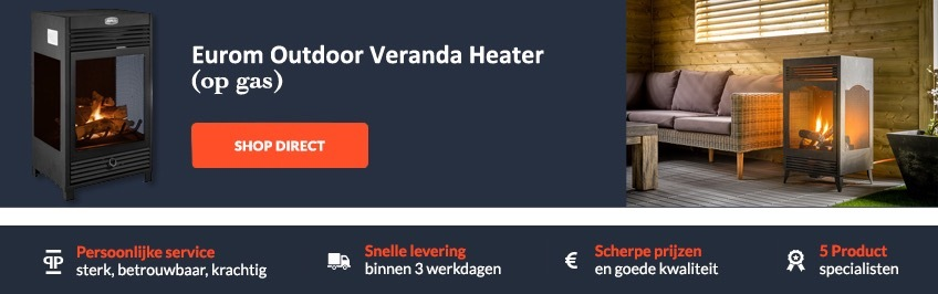 Eurom Outdoor Veranda Heater op gas!