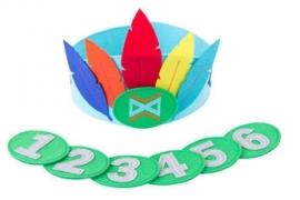 Verjaardagskroon veren jongen met cijfers