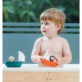 Houten bootje Pinguïn