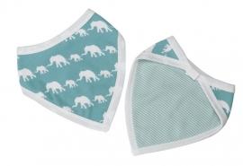 Bandana slab Olifantjes - blauw