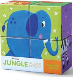 Blok puzzel Jungle Dieren