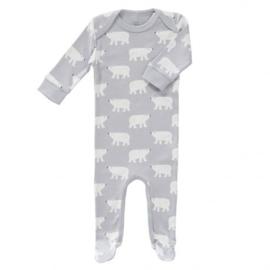 Babypyjama met voetjes  IJsbeer