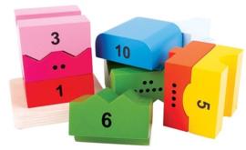 Blokkentoren met cijfers