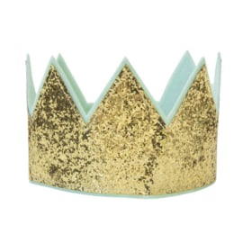 Gouden kroon met glitters