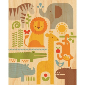 Schilderij Safari dieren
