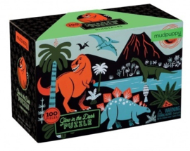Glow in the dark puzzel Dino -5j