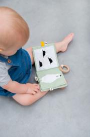 Babyboekje met Dieren van stof