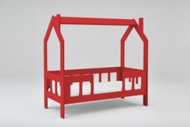 Peuterbed Slaaphuisje rood