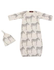 Newborn slaapzak & mutsje Zebra