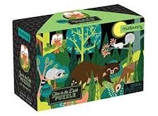 Glow in the dark puzzel Bos -5j