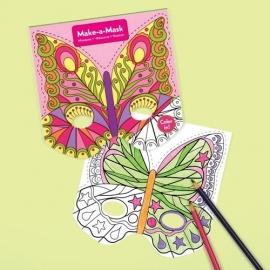 Maak een masker - Vlinders / 20st
