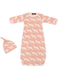 Newborn slaapzak & mutsje Vos - roze