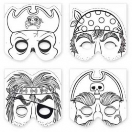 Maak een masker - Piraten / 20st