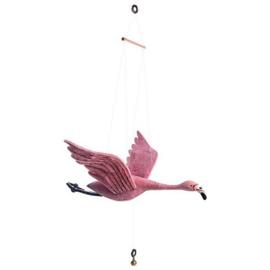 Mobiel bewegende Flamingo