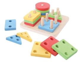 4 vormen Sorteerbord