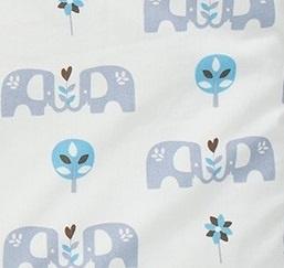 Babypyjama olifant met voetjes  -  biologisch katoen