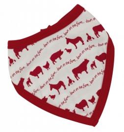Bandana slab Dieren op de boerderij - rood