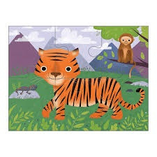 Set van 4 dieren puzzels - 2j