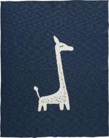 Gebreide ledikant deken Giraf
