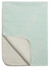 Ledikant deken Veren - mint