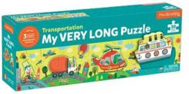 Superlange dieren puzzel - vervoer