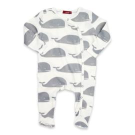 Baby pyjama Walvis  - grijs