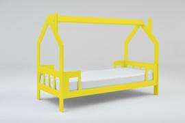 1 persoons kinderbed Slaaphuisje geel