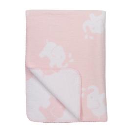 Ledikant deken Olifant - roze