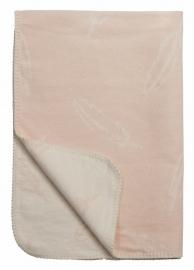 Ledikant deken Veren - roze