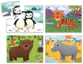 Set van 4 dieren puzzels