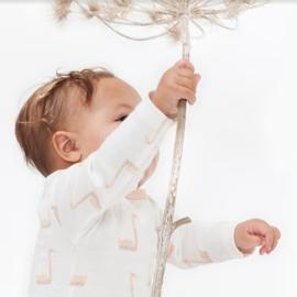 Babypyjama Zwaan met voetjes  -  biologisch katoen