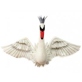 Dierenkop Zwaan met vleugels