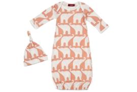 Newborn slaapzak & mutsje Olifant - roze