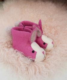 Kindersloffen Konijn - roze