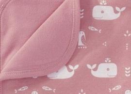Babydeken Walvis roze