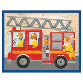 Puzzel Brandweer in etui /12st - 2j