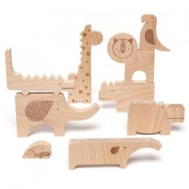 Houten safari dieren (puzzel)