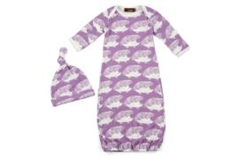 Newborn slaapzak & mutsje Egel - paars