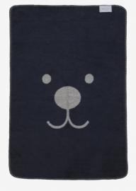 Ledikant deken Beer - donkerblauw