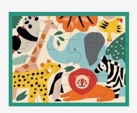 Puzzel dierentuin in etui /12st - 2j