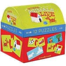 Puzzelbox Waar wonen dieren / 2j