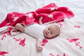 Ledikant deken Flamingo