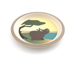 Bamboe kinderservies Nijlpaard