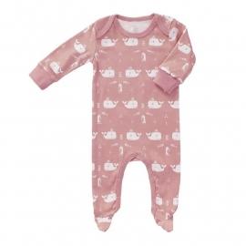 Babypyjama Walvis - roze met voetjes